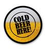 Seven Rays Multicolour Fibre Board Cold Beer Here Fridge Magnet