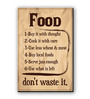 Seven Rays Brown Fibre Board Food-Don't Waste It Fridge Magnet