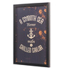 Seven Rays Glass, Fibre & Paper 8 x 1 x 12 Inch A Smooth Sea Never Made A Skilled Sailor Framed Poster