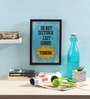Seven Rays Glass, Fibre & Paper 8 x 1 x 12 Inch Do Not Disturb Lazy Genius Framed Poster