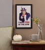 Seven Rays Glass, Fibre & Paper 8 x 1 x 12 Inch I Want You At The Gym Framed Poster