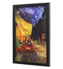 Seven Rays Glass, Fibre & Paper 8 x 1 x 12 Inch Vincent Van Gogh The Cafe Terrace on The Place Du Forum Arles At Night C.1888 Framed Poster