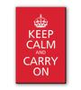 Seven Rays Red & White Fibre Board Carry on Fridge Magnet