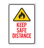 Seven Rays Paper 12 x 1 x 18 Inch Keep Safe Distance Unframed Poster