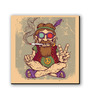 Seven Rays Multicolour Fibre Board Peace Baba Fridge Magnet