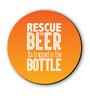 Seven Rays Orange Fibre Board Rescue The Beer Orange Fridge Magnet
