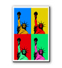 Seven Rays Multicolour Fibre Board Statue of Liberty Pop Art Fridge Magnet