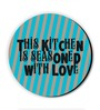 Seven Rays Blue MDF This Kitchen Is Seasoned with Love! Fridge Magnet
