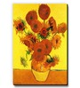 Seven Rays Yellow MDF Vase with Fifteen Sunflowers Fridge Magnet