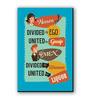 Seven Rays Multicolour Fibre Board Women & Men Fridge Magnet