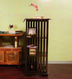 Shah Kreations Brown MDF Revolving Book Rack