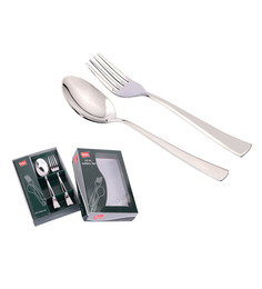 Shapes Artic Stainless Steel Dinner Spoon And Fork - Set Of 12