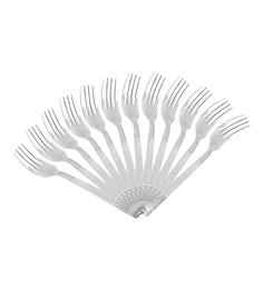 Shapes Floral Stainless Steel Dinner Fork - Set of 12