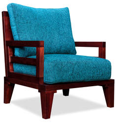 Sheraton Armchair in Teal & Mahogany Colour by Durian