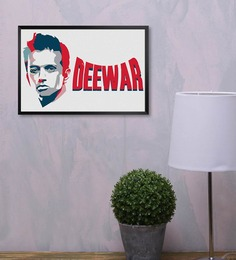 Shop Mantra Rahul Dravid Multicolour Wood Laminated Poster