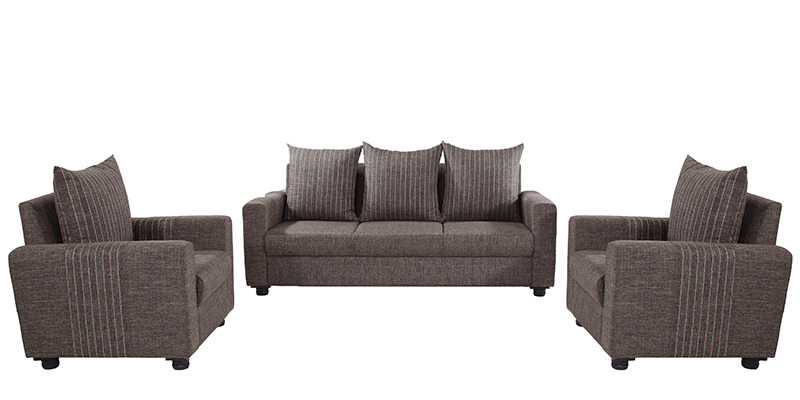 Shenzen 3+1+1 Sofa Set in Grey Colour by Looking Good Furniture