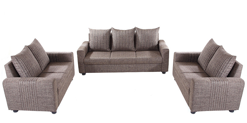 Shenzen 3+2+2 Sofa Set in Grey Colour by Looking Good Furniture