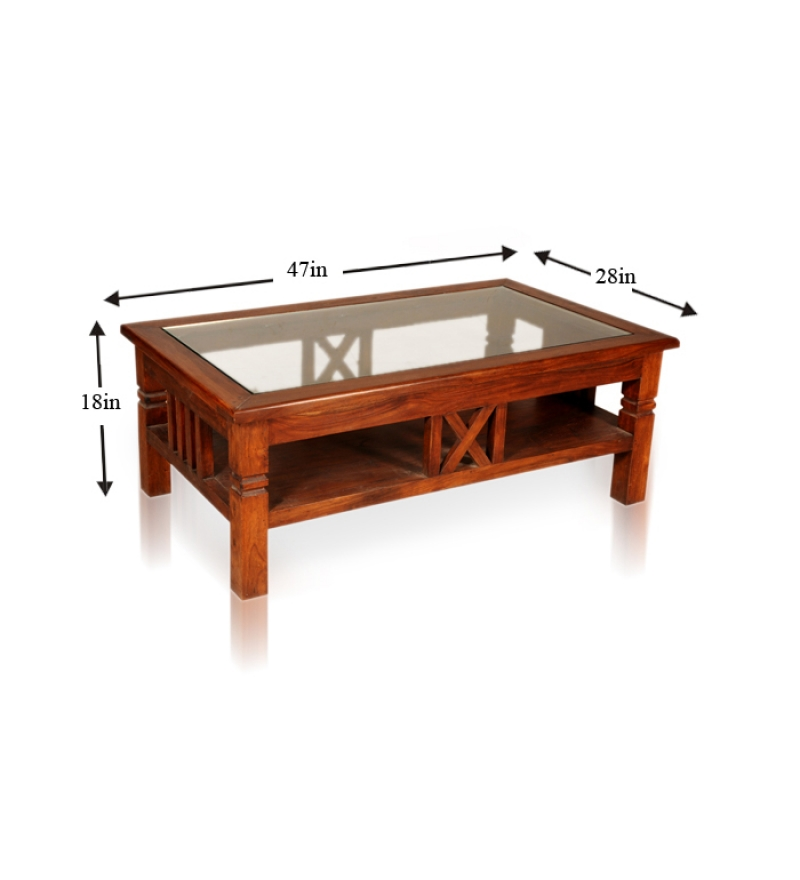 Marvelous Wood Table With Glass Top By Mudramark Online   Coffee U0026 Centre Tables .