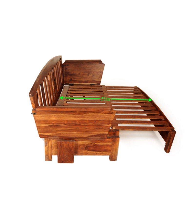 Cinnamon Wooden Sofa Cum Bed By Mudra Online Sofa Cum Beds Furniture Pepperfry Product