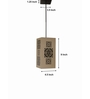 Shady Ideas Graphix  Sconce off white MDF Pendant