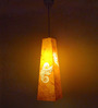Shady Ideas Yellow Leaflets Trapeze Suspension Light