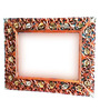 Shah Kreations Copper Wood Carved Rectangle Mirror