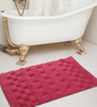 Shahenaz Home Shop Pink Cotton 24 x 16 Inch Bath Mat