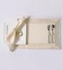 Shahenaz Home Shop Gia Cream Cotton Motif 18-piece Placemat, Napkin, and Ring Set