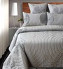 Shahenaz Home Shop Gray Cotton Solid King Quilt - Set of 2