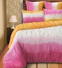 Shahenaz Home Shop Dip Dye Pink Cotton Solid King Quilt - Set of 2