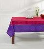 Shahenaz Home Shop Purple Poly Dupion 88 x 60 Inch Table Cloth