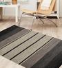 Shahenaz Home Shop Talisman Black Cotton Carpet