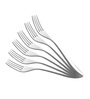 Shapes Oslo Silver Stainless Steel Dinner Fork - Set of 6