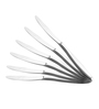 Shapes Oslo Silver Stainless Steel Dinner Knife - Set of 6