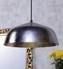 Shaz Living Lyon Silver Aluminum Hammered Pendant Lamp