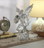 Shaze Silver Resin with Silver Plating Archangel Figurine