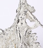 Shaze Silver Resin with Silver Plating Hera with Peacock Art Showpiece