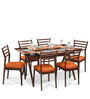 Sheen Glass Top Six Seater Dining Set by Durian