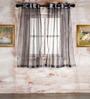 Enrique Set of 2 Door Curtain in Black by CasaCraft