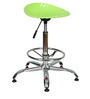 Shell Bar Stool In Green Color By The Furniture Store