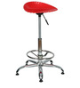 Shell Bar Stool In Red Color By The Furniture Store