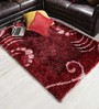 Shobha Woollens Red Polyester Area Rug