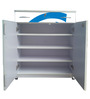 Shoe Rack in White & Blue Colour by BigSmile