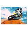 Shop Mantra Paper 19 x 13 Inch Biker Doing Stunt Unframed Laminated Poster