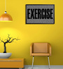 Shop Mantra Wooden 19 x 1 x 13 Inch Exercise Some Motivation Framed Poster