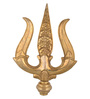 ShopEndHere Gold Brass Trishul Showpiece