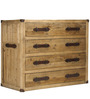 Short Urban Chic Leather Handle Chest Of Drawer by Asian Arts