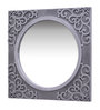 Adderson Decorative Mirror in Silver by Amberville