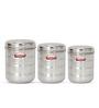 Shubham Kitchen Storage Silver Storage Container - Set of 3
