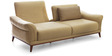 Silvio Three Seater Sofa in Straw Yellow Color by CasaCraft